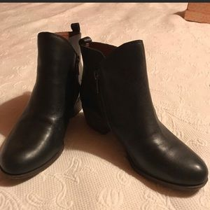 Lucky Brand Black Ankle Boots
